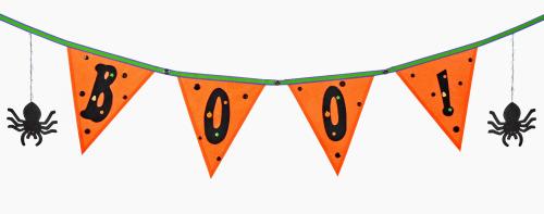 mod podge halloween banner - Halloween Classroom Decorations